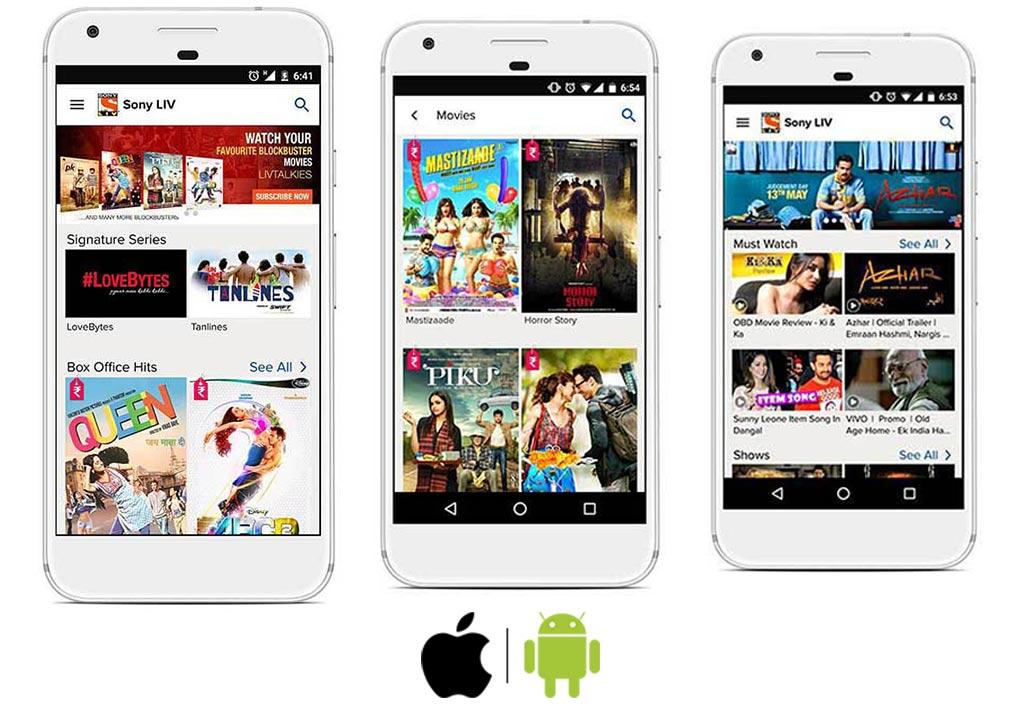 Ava-IT-Solutions-Dubai-Mobile-App-Portfolio-Sony-Liv-TV